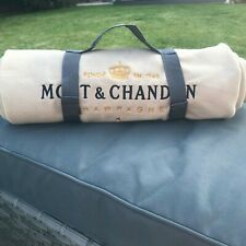 MOET & CHANDON  BEIGE PICNIC BLANKET WITH CARRY STRAP  SPECIAL BIRTHDAY GIFT