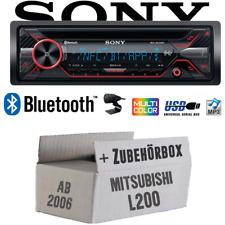 Sony Autoradio für Mitsubishi L200 ab 2006 Bluetooth CD MP3 USB Auto Einbauset