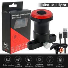Bremsinduktion LED Fahrrad Rücklicht Bremslicht Fahrradbeleuchtung IPX6 USB.
