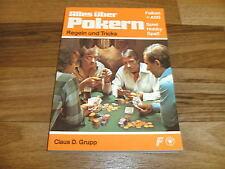 Claus Grupp -- ALLES über POKERN / Regeln und Tricks // FALKEN-Verlag+ASS 1978