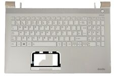 New Toshiba Satellite L50-C  White Palmrest Cover UK QWERTY Keyboard A000392210