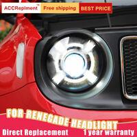Montaggio di fari di 2pcs per Jeep Renegade 15-18 xeno lente proiettore LED