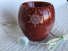 YANKEE CANDLE Red Snowflake Wax Warmer Burner with Timer Electric Christmas