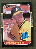 CENTERED! 1987 Donruss Mark McGwire #46 ROOKIE CARD A's Cardinals RC Baseball