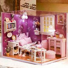 DIY Handcraft Miniature Project Dolls House My Little Angels Lavender Bedroom 17