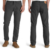NWT Men's LEVI'S 514 Stretch Cotton Twill JEANS Straight Graphite Gray 746 Pants