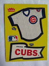 Chicago CUBS,  Sticker Card, Fleer. (1985). Collectible- Free Ship. USA