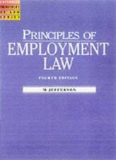 Principles of Employment Law 4th Edition (2000) (Cavendish Principles of Law) B