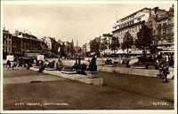 Nottingham East Midlands vintage postcard ~1950/60 City Square shops Stadtpartie