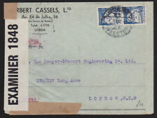 Portugal 1942 Air Mail Cover Examined by Censor Cassels Ltd Lisboa to London