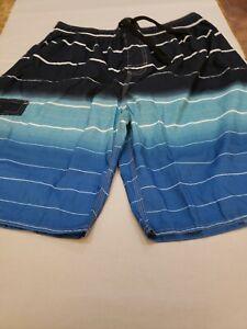 Nonwe Men's Beachwear Summer Holiday Swim Trunks Quick Dry Striped, Size 38