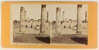 Italia Pompei Foto Stereo PL55L5n Vintage Albumina