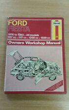 FORD FIESTA MK1 PETROL 76-83 HAYNES WORKSHOP MANUAL 334 IN A USED COND FREE P&P