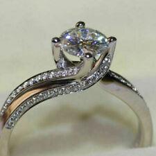 Antique Engagement Wedding Ring White Gold Finish 2 Ct Round VVS1 Diamond Size 7