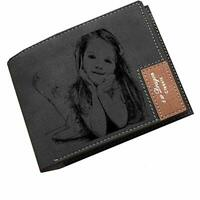 Personalized wallet Custom Photo Wallet Leather Wallet Anniversary Gift For Men