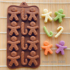 Gingerbread Man Silicone Chocolate Cake Mould Decorating Candy Baking Sugar Mold