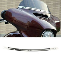 Edelstahl Batwing Verkleidung Windschild Trimm für Harley FLHT FLHX 1996-2013