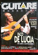 Guitare et Claviers 107 du 4/1990; Paco De Luca/ Stranglers/ Mudnight Oil/ Gamba