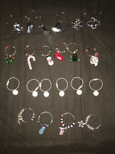 Four Sets of wine charms