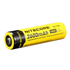 NiteCore NL186 Protected 3.7V 2600mAh 18650 Rechargeable Li-ion Battery