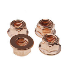 For BMW E30 3 Series EXHAUST MANIFOLD NUTS HEAD STUD LOCK NUT M8 HEX COPPER