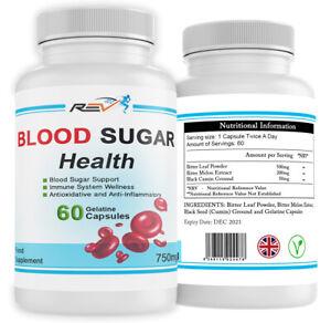 Blood Sugar Diabetic & Immune Support System 100% ORGANIC 60 VEGAN Capsules