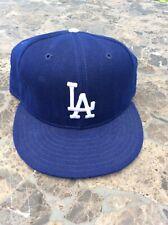 Vintage LA Dodgers Wool Fitted New Era Diamond Hat Cap Pro Model MLB Size 7 1/4