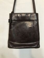Brown Embossed Leather Purse