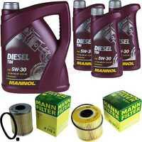 Olio motore 8L MANNOL Diesel Tdi 5W-30 + Mann Opel Movano Ribaltabile H9