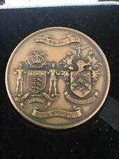 "Art Deco Bronze Medal 1927 Market by Bigatti 2.3"""