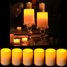 10Pcs Large LED Flameless Pillar Candles Flickering Light Battery Operated Decor