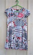 Dotti Dress Boho Style V Neck Cap Sleeved Size 10