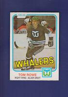Tom Rowe 1981-82 O-PEE-CHEE OPC Hockey #139 (NM) Hartford Whalers