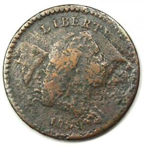 1794 Liberty Cap Flowing Hair Half Cent 1/2C Coin - VG / Fine Detail (Corrosion)