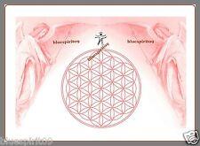 Energie Bild - Schwingungsbild - Die Blume des Lebens mit Erzengel Uriel