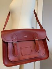 Cambridge Satchel Company Large Crossbody Bag Red - Personalised