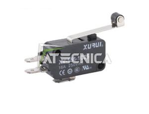 Microswitch microinteruttore pulsante micro switch 250V 16A NO+NC leva cuscinett