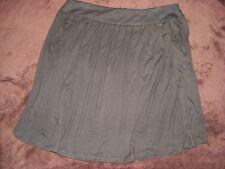Rockmans Size 18 Fudge- Dark Khaki Skirt Wide Band - 2 Pockets