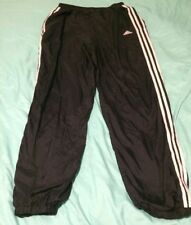 Adidas Black Nylon Lined Running Pants Mens Large TS8