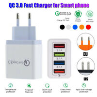 4 Port QC 3.0 Fast Quick Charge USB Hub Wall Charger Power Adapter EU/US Plug US