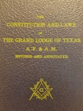 Constitution and Laws of the Grand Lodge of Texas AF & AM 1954 Mason Masonic