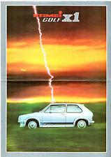 Kamei Volkswagen Golf X1 Hatchback Mk1 Early 1980s German Market Folder Brochure