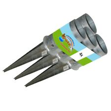 4x Einschlagbodenhülse rund Ø81 mm Pfostenträger Einschlaghülse Bodenanker
