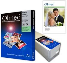 Olmec 240gsm Photo SATIN Inkjet Printer Paper A4 50 Sheets OLM64A4 Inc VAT