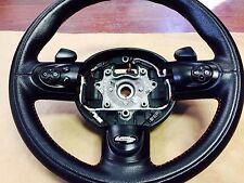 Mini Cooper R55 R56 R57 R58 John Cooper Works JCW Steering Wheel Black/Red OEM