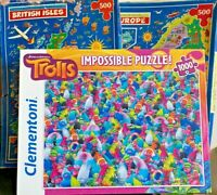 Jigsaw Puzzle-1000 Pieces-JR-Clementoni-Europe-British Isles-Trolls-Impossible