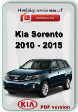 Kia Sorento 2010 2011 2012 2013 2014 2015 Factory Workshop OEM Repair Manual