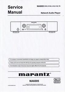Service Manual-Anleitung für Marantz NA 6005