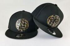 New Era Black Brooklyn Nets Metal Army Camouflage Logo 9Fifty Snapback hat