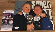 Jerry Jones & Jimmy Johnson Signed Dallas Cowboys JSA Authenticated 8x10 Photo